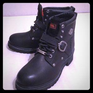 Brand new Harley-Davidson black boots.